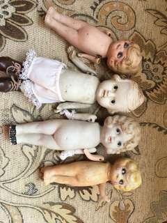 日本四只陶瓷娃娃1970s