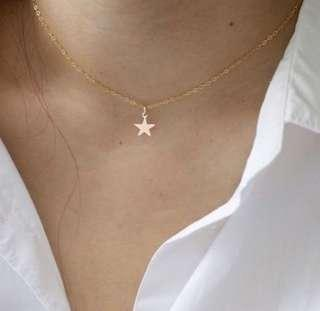 Simple Gold Star Necklace