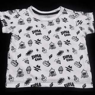 Baby Black & white top