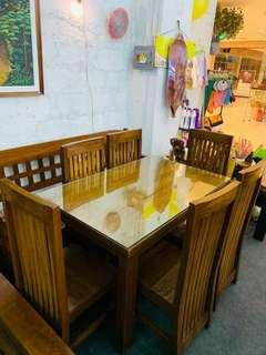 6 Seater Dining Table Solid Yakal Wood