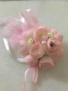 Wedding corsage (beautiful pink flower) 3pieces available !