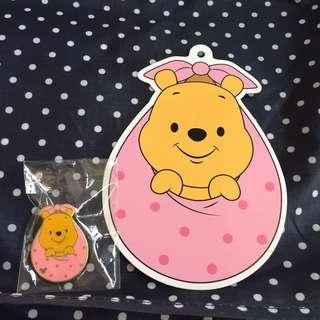 小熊維尼 Winnie the Pooh pins 連postcard