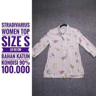 STRADIVARIUS, top, size S, kondisi 90%