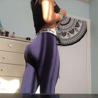 fila navy blue leggings with thick band
