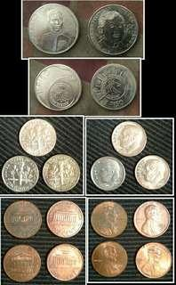Old phillippine and u.s.a. coins