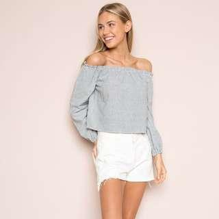 brandy melville theia off shoulder top