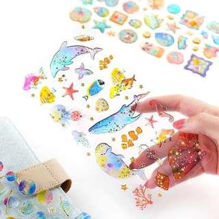 [In stock] Various Designs - 3D Jelly Stickers Sheet