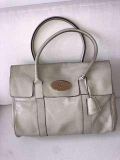 Cream coloured leather bag