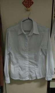 小隻馬  短袖 長袖  面試 工作 餐飲 服務 正規 白 襯衫 棉