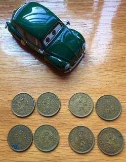 (2)1977/78/79/80> 50 cents Queen Elizabeth