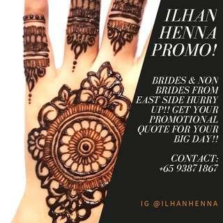Henna promo for East side Brides!