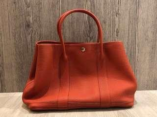 Hermes Taurillion 牛皮Garden Party36 -rouge tomate