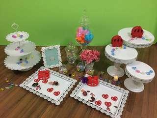 平租小朋友派對/婚禮/百日宴佈置擺設reception/photo album/糖果閣擺設/Wedding Candy Corner Decoration租借服務 (不包食物)