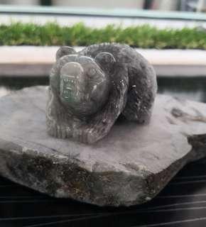 Jadeite bear display