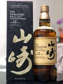 山崎12年 The Yamasaki SINGLE MALT JAPANESE WHISKY AGED 12 YEARS