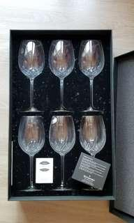 WATERFORD crystal glasses 高身 水晶 酒杯