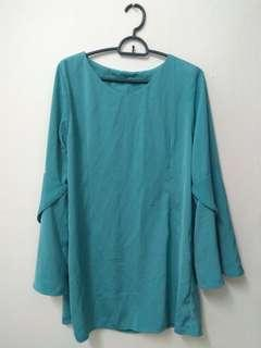 Preloved green blouse #MMAR18