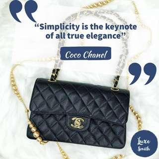 🚚 Chanel Classic Small Shoulder Bag with GHW in Caviar