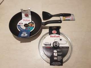 🚚 Tefal intensive wok pan 28cm and spatula