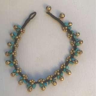 Ankle bracelet with jingle bells