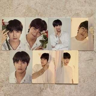 🚚 [WTS] BTS Love Yourself Tour in Korea/International Taehyung 7pcs Mini Photocard set