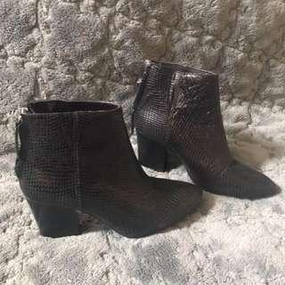 Super SALE!!! Zara artificial snake skin leather boots