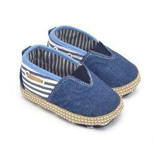 🚚 🌟PM for price🌟 🍀Baby Boy First Walker Soft Sole Denim Shoes🍀