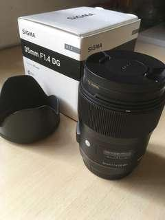 Sigma 35mm F1.4 DG HSM | Art (EF mount) 99%新 連B+W XS-PRO filter