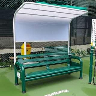 Courtside Bench with Canopy - Type A