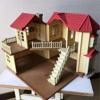 Sylvanian red roof house with full working lights