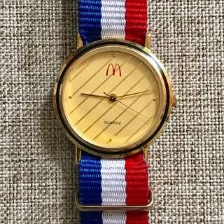 McDonald's Watch By Performance Design Original Gold Dial Strap NATO Stainless Steel