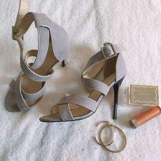 Gray Heels Sandals