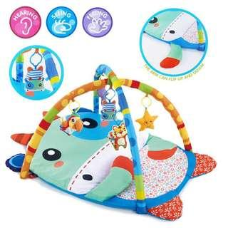 Baby Playmat DOMI Large Baby Play Soft Gym Mat Little Cow Animal