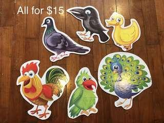 🚚 Bird puzzles set for beginners