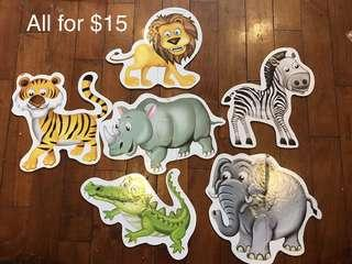 🚚 Animal puzzles set for beginners