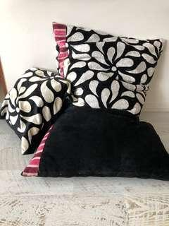 Big black and white pouffe