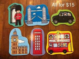 🚚 Puzzles bundle London theme for beginners