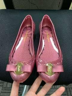 New! Salvatore Ferragamo jelly shoe with heel