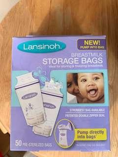 澳洲Lansinoh 母乳儲奶袋 50個