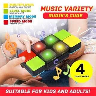 Educational creative kids toy gift. Puzzle magic cube, rubik cube with lights