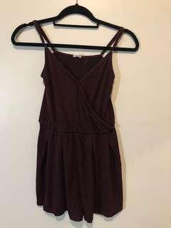 GARAGE Burgundy Romper (XS)