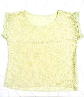 Woman's lace top (S-M) in beige