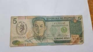 5 peso with logo