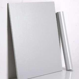Silver Glossy Pearl Contact Paper Wall Home Decor