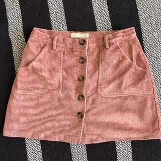 Troublemaker velvet skirt