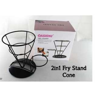 2in1 Fry Stand Cone