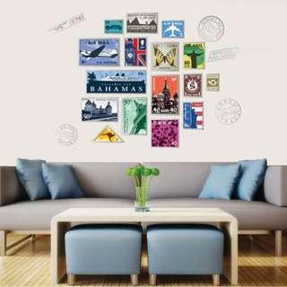 Stamps Wall Decal Vinyl Mural Sticker Home Decor
