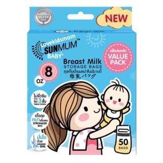 🚚 [New & Improved] Sunmum Triple Zipper Breast Milk Storage Bag 50 pcs