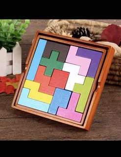 Wooden traditional classical puzzle