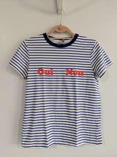 ASOS statement striped t shirt